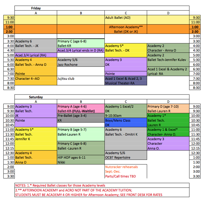 Primary Lesson Schedule 2015   New Calendar Template Site