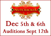 OCBT Nutcracker 2015 - Audition and Show Dates